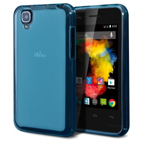 Frozen Ice Extra Slim soft Blue case for Wiko Goa