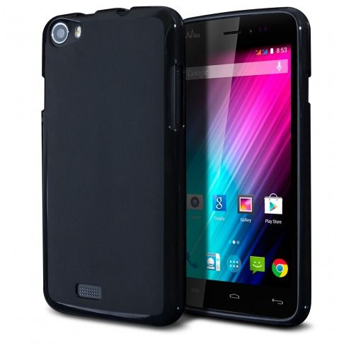 Frozen Ice Extra Slim soft Black opaque case for Wiko Lenny