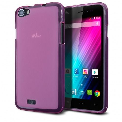 Frozen Ice Extra Slim soft Pink case for Wiko Lenny