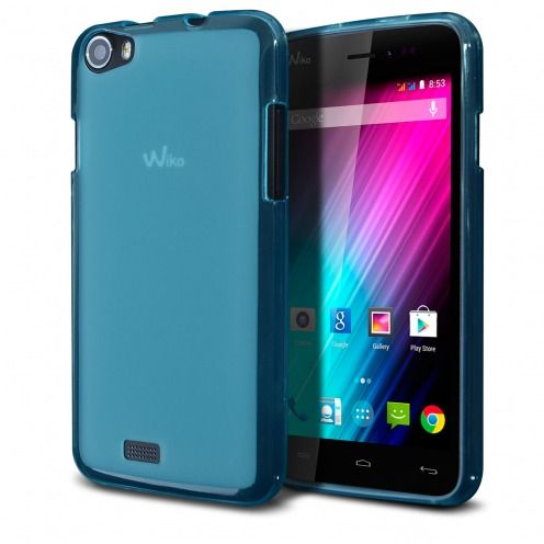 Frozen Ice Extra Slim soft Blue case for Wiko Lenny