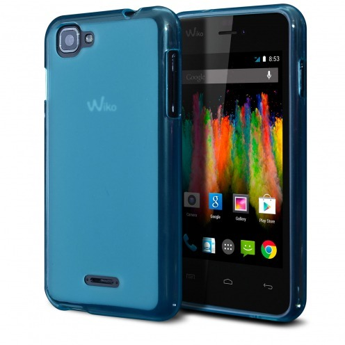 Frozen Ice Extra Slim soft Blue case for Wiko Kite