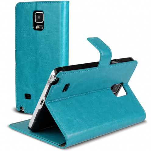 Smart Cover Galaxy Note 4 Blue marbled Leatherette