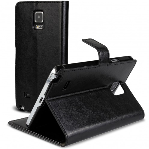 Smart Cover Galaxy Note 4 Black marbled Leatherette