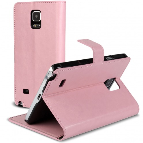 Smart Cover Galaxy Note 4 Pink marbled Leatherette