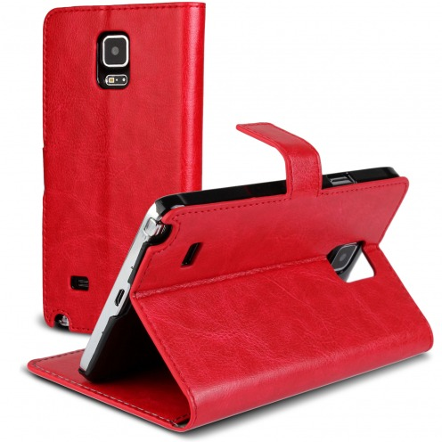 Smart Cover Galaxy Note 4 Red marbled Leatherette