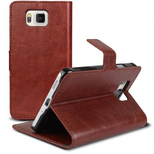 Smart Cover Galaxy Alpha Havana marbled Leatherette
