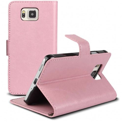 Smart Cover Galaxy Alpha Pink marbled Leatherette