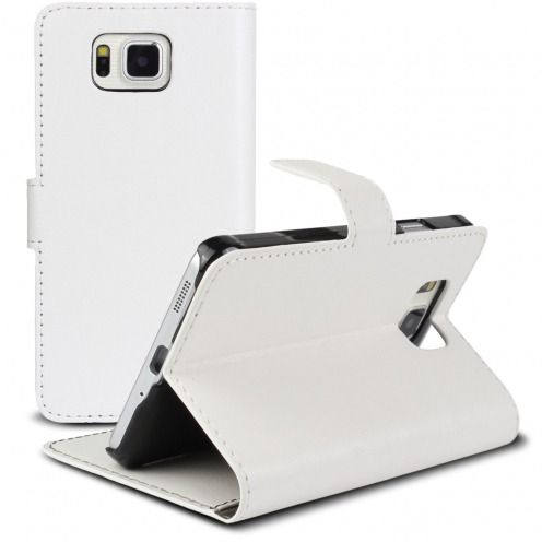 Smart Cover Galaxy Alpha White marbled Leatherette