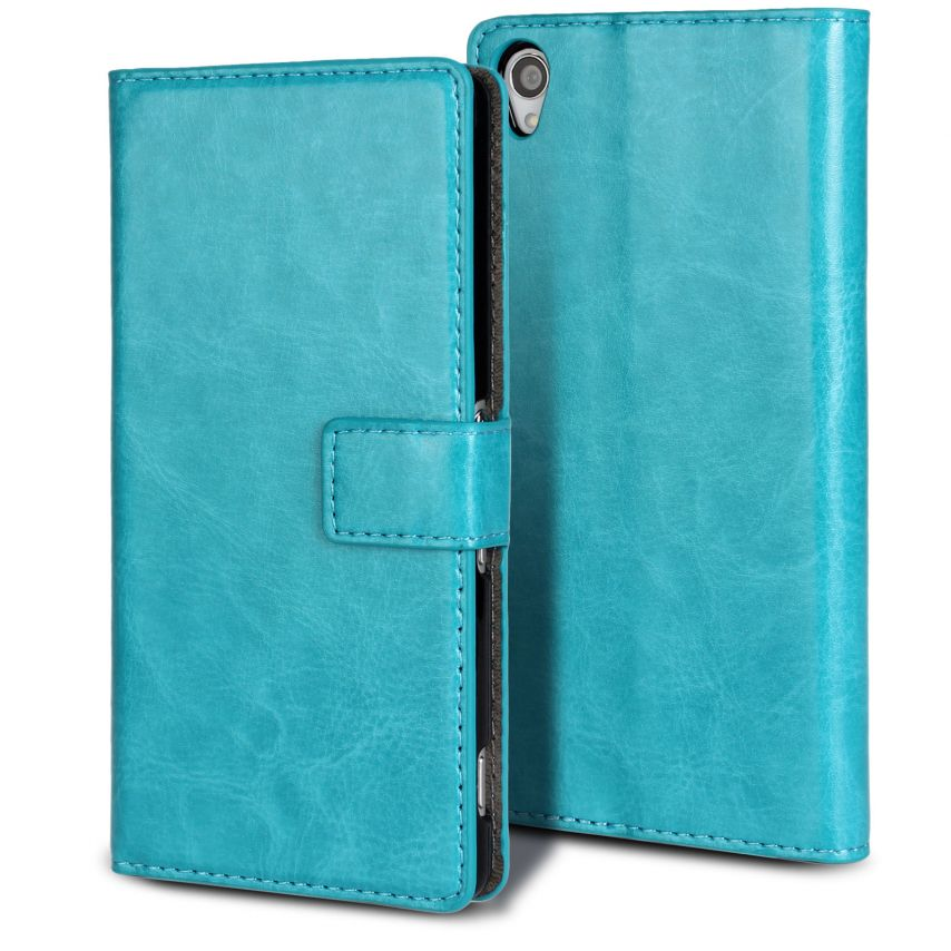 Smart Cover Xperia Z3 Blue marbled Leatherette