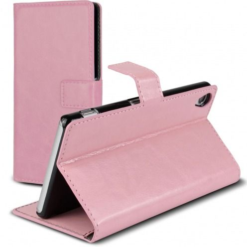 Smart Cover Xperia Z3 Pink marbled Leatherette