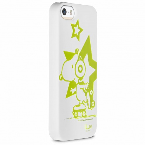 iLuv® Snoopy Glow in the Dark TPU Case White for iPhone 5/5S