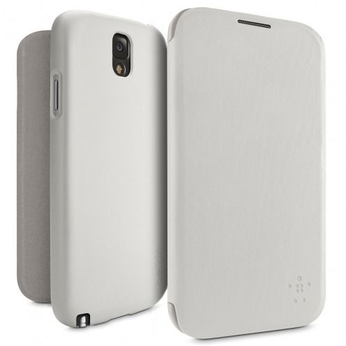 Belkin® Micra Folio Case F8M688B1C02 White for Galaxy Note 3