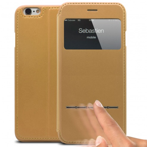 Smart Touch View Folio Cover for iPhone 6 Plus - Gold