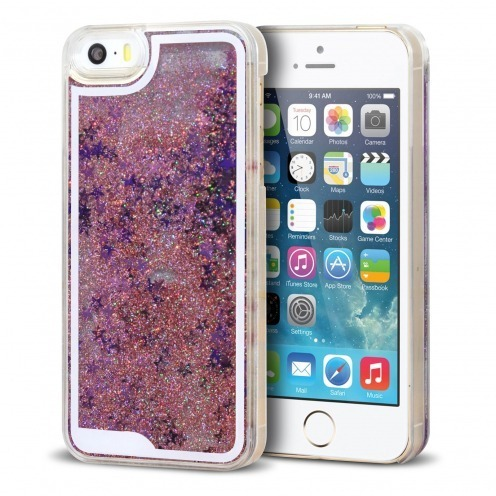 Crystal Liquid Glitter Diamonds case for iPhone 5/5S Pink