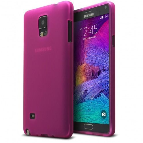 Frozen Ice Extra Slim soft Pink case for Galaxy Note 4