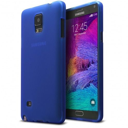 Frozen Ice Extra Slim soft Blue case for Galaxy Note 4