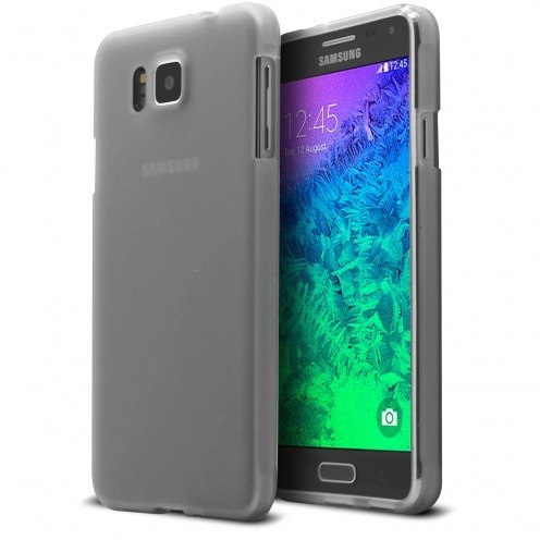 Frozen Ice Extra Slim soft White case for Galaxy Alpha