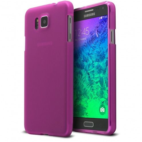Frozen Ice Extra Slim soft Pink case for Galaxy Alpha