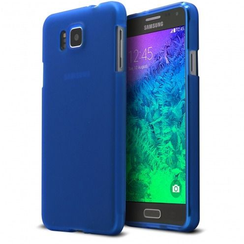 Frozen Ice Extra Slim soft Blue case for Galaxy Alpha
