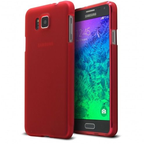 Frozen Ice Extra Slim soft Red case for Galaxy Alpha