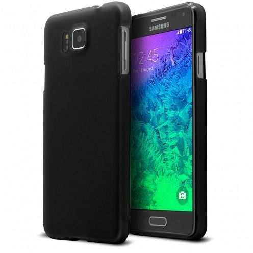 Frozen Ice Extra Slim soft Black opaque case for Galaxy Alpha