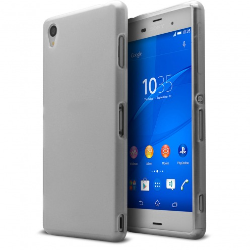 Frozen Ice Extra Slim soft White case for Sony Xperia Z3