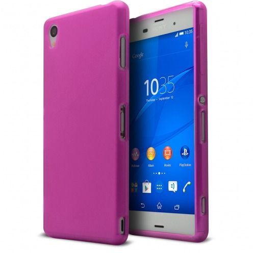 Frozen Ice Extra Slim soft Pink case for Sony Xperia Z3