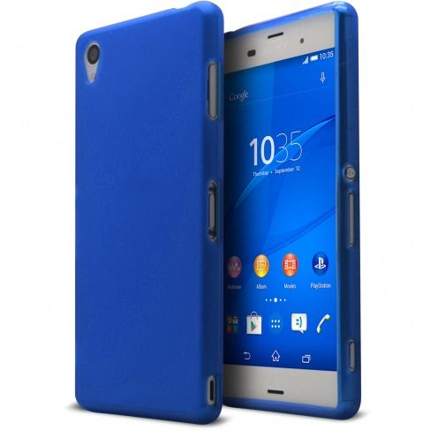 Frozen Ice Extra Slim soft Blue case for Sony Xperia Z3