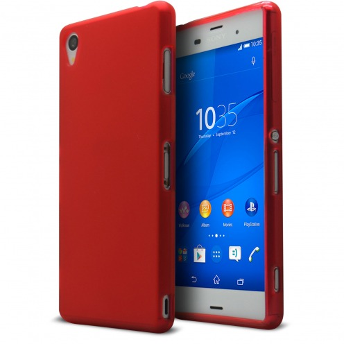 Frozen Ice Extra Slim soft Red case for Sony Xperia Z3