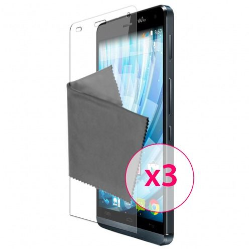 Clubcase ® Ultra Clear HD screen protector for Wiko Getaway 3-Pack