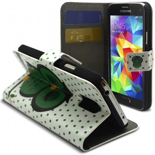 Smart Cover Sleeping Owl pattern for Galaxy S5 Mini