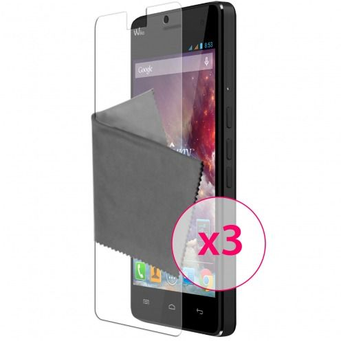 Clubcase ® Anti-Glare HQ screen protector for Wiko Highway 3-Pack
