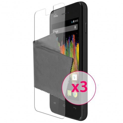 Clubcase ® Ultra Clear HD screen protector for Wiko Kite 3-Pack