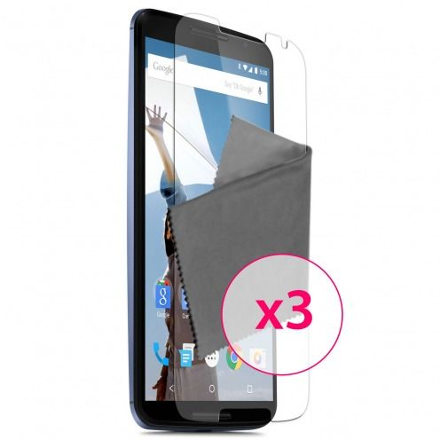 Clubcase ® Ultra Clear HD screen protector for Motorola Nexus 6 3-Pack
