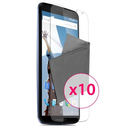 Clubcase ® Ultra Clear HD screen protector for Motorola Nexus 6 10-Pack