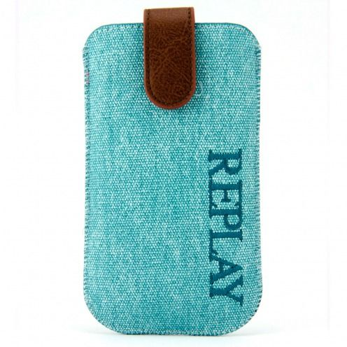 Replay® Genuine Denim Pouch for iPhone 4/4S Aqua Blue