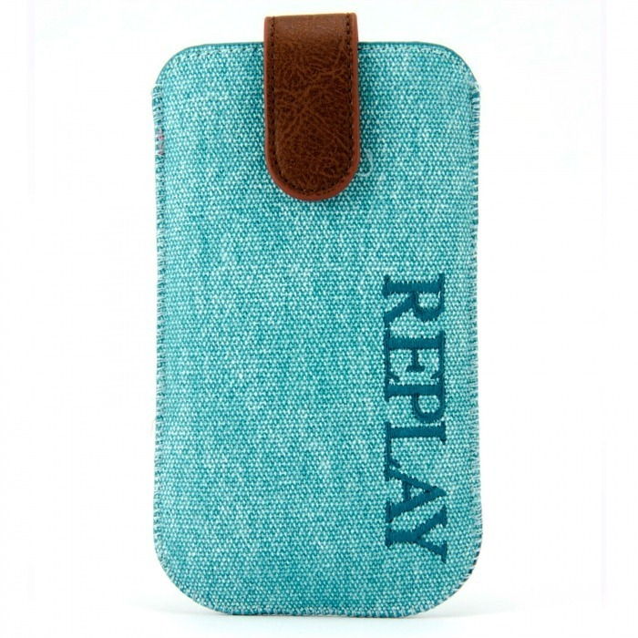 051d2d312ad4b9 Replay® Genuine Denim Pouch for iPhone 4 4S Aqua Blue