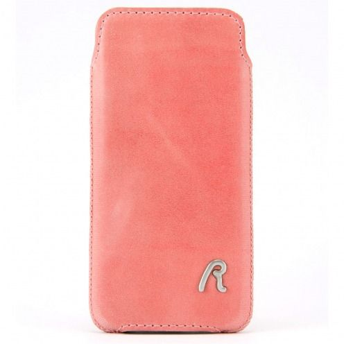 Replay® Genuine Leather Pouch for iPhone 4/4S Vintage Pink
