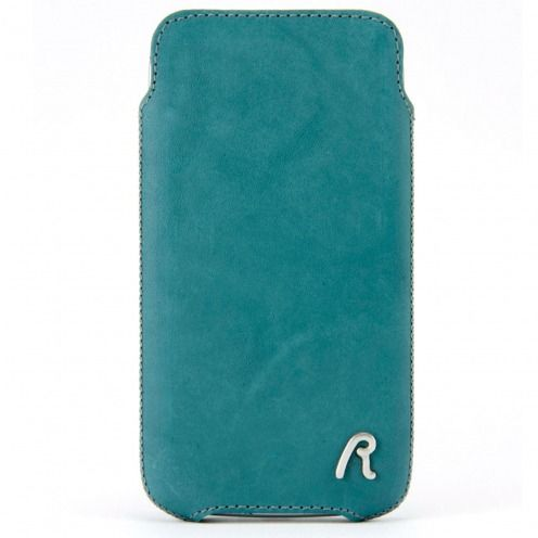 Replay® Genuine Leather Pouch for iPhone 4/4S Aqua Medium Blue