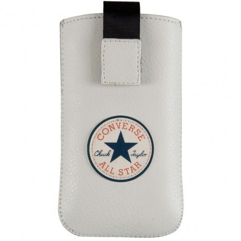 Converse All Star® Eco Leather Pouch for iPhone 4/4S White - Size Medium
