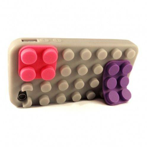 "iPhone 4S/4 Block case ""LEGO"" Design grey"