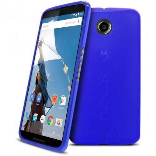 Frozen Ice Extra Slim soft Blue case for Nexus 6