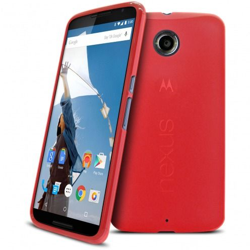 Frozen Ice Extra Slim soft Red case for Nexus 6