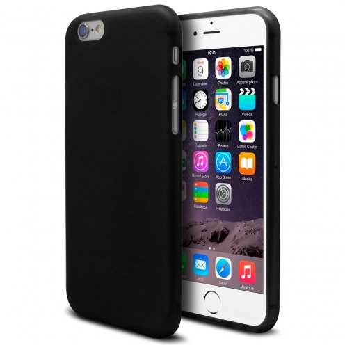 Frozen Ice Extra Slim soft Black opaque case for iPhone 6