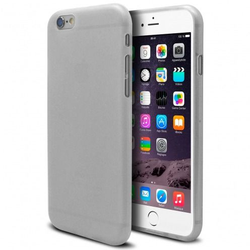 Frozen Ice Extra Slim soft White case for iPhone 6 Plus