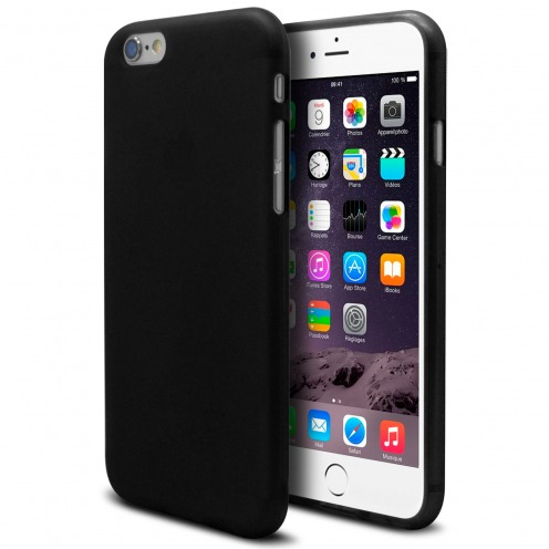 Frozen Ice Extra Slim soft Black opaque case for iPhone 6 Plus