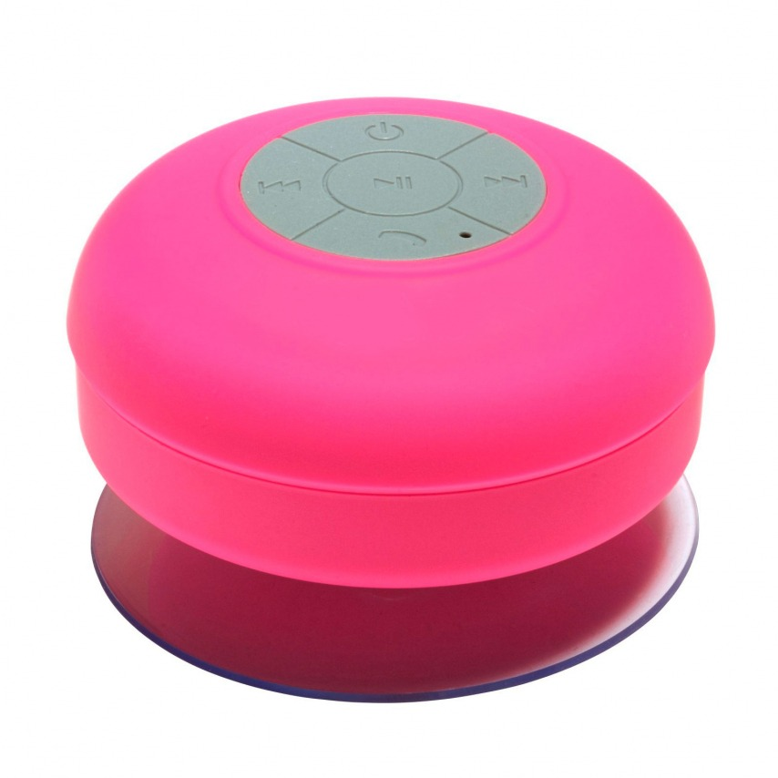 AquaSound Water resistant Bluetooth Speaker for bathroom and shower - Pink