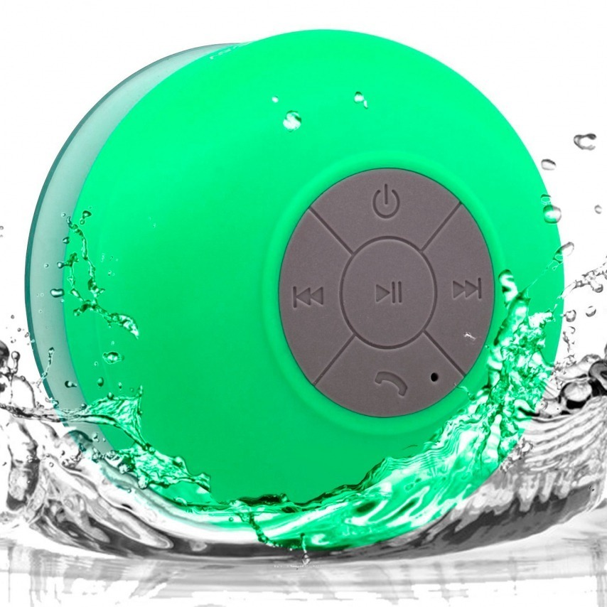AquaSound Water resistant Bluetooth Speaker for bathroom and shower - Green