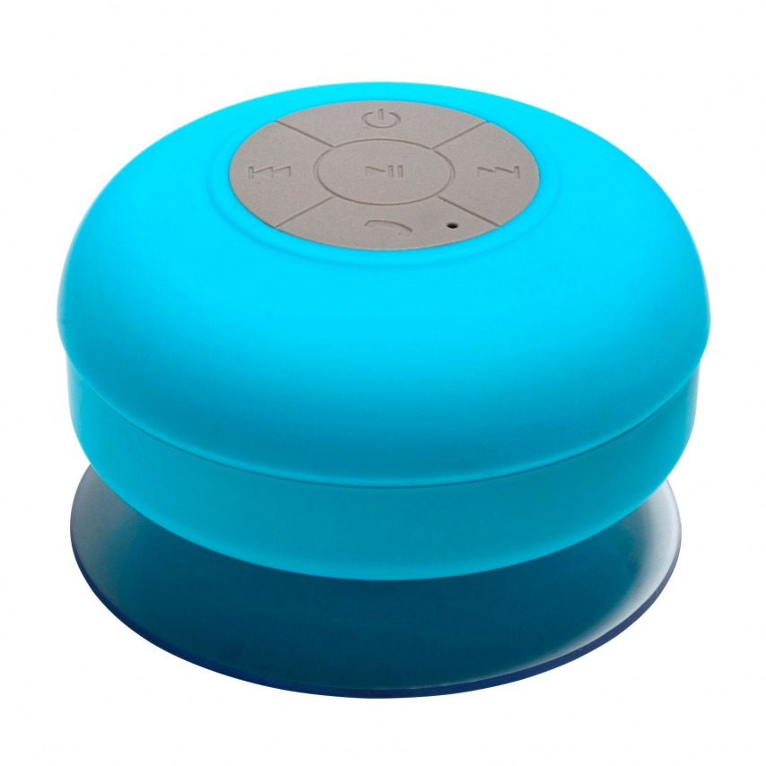 AquaSound Water resistant Bluetooth Speaker for bathroom and shower - Blue