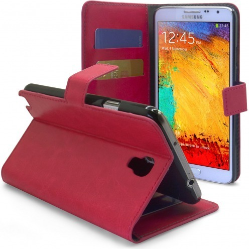 Smart Cover Samsung Galaxy Note 3 Neo / Lite Fuchsia marbled Leatherette